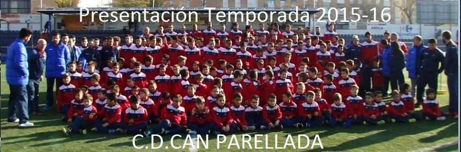 PRESENTACIÓN DEL C.D.CAN PARELLADA TEMPORADA 2015-16