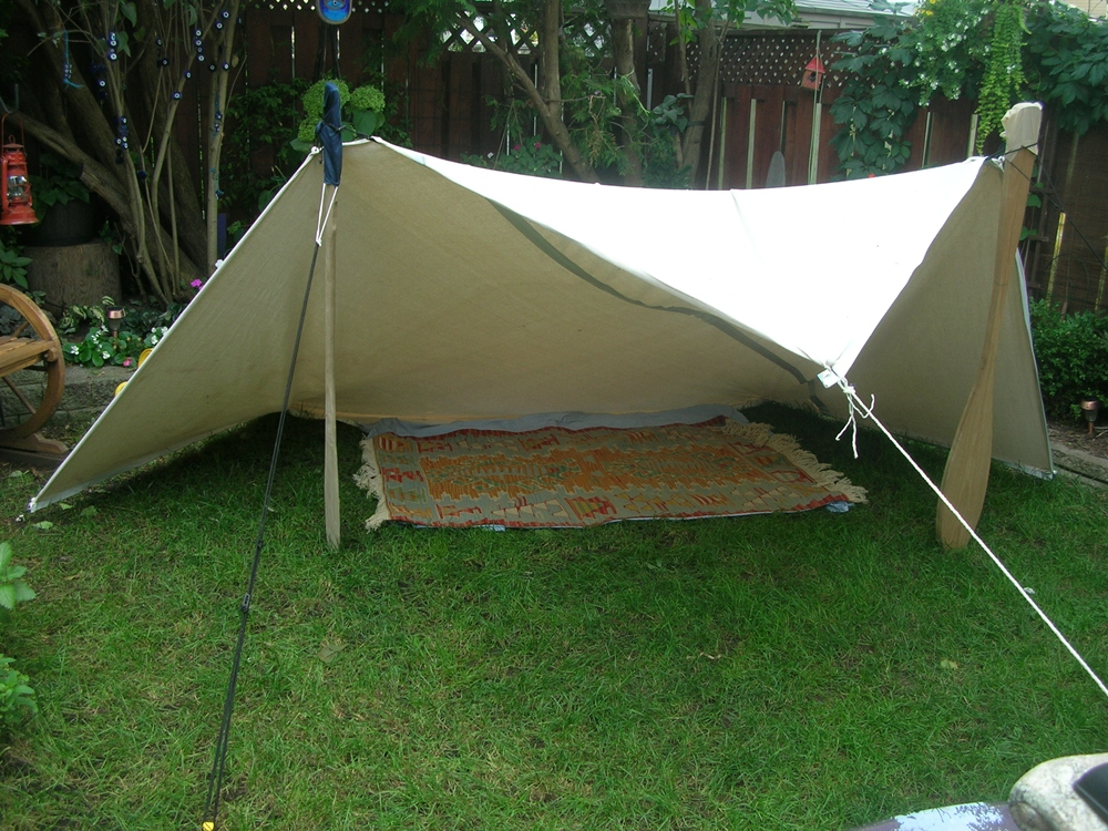 Tarp Tents Shelter : Paddle making and other canoe stuff drop cloth tarp
