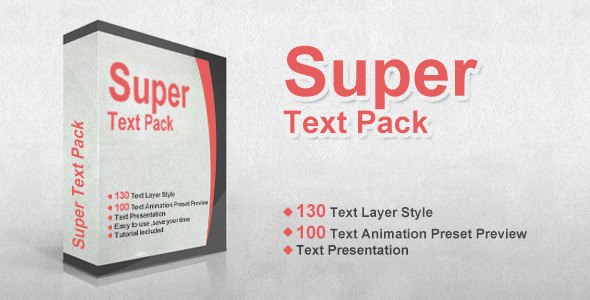 VideoHive Super Text Pack