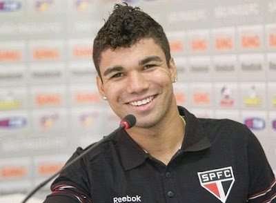 Casemiro at press conference in Sao Paulo