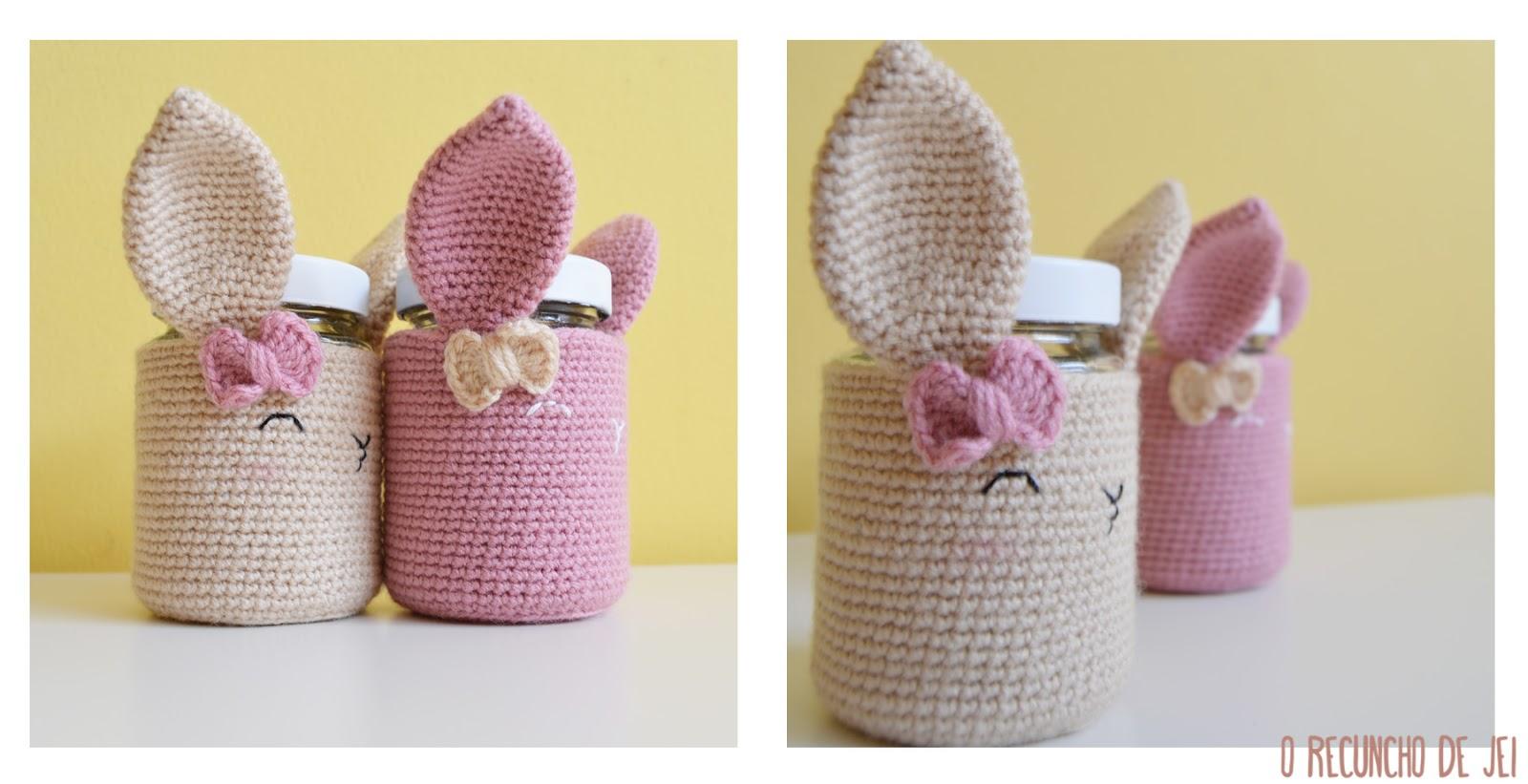O Recuncho de Jei: Regalos Handmade: Botes Conejos Crochet