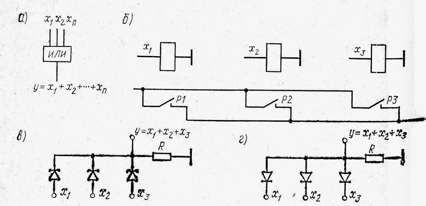Схема логического звена «ИЛИ»