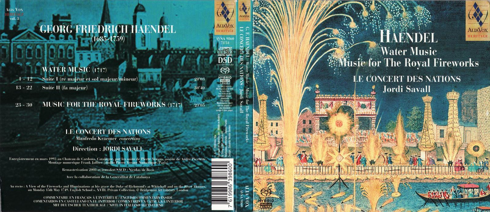 Blog music: Handel: Water Music, Music for the Royal Fireworks