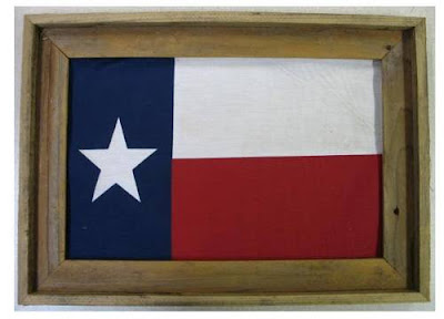 Flag in Barn Wood Frame