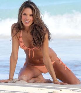 Alessandra Ambrosio a sexy mermaid in caribbean