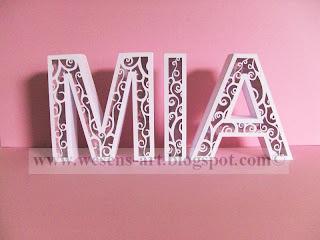 3D Letters 2     wesens-art.blogspot.com