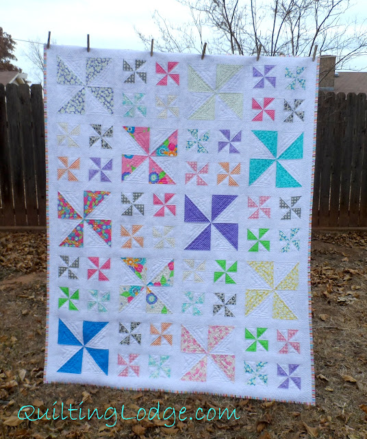 Quilting Lodge Pinwheel Quilt