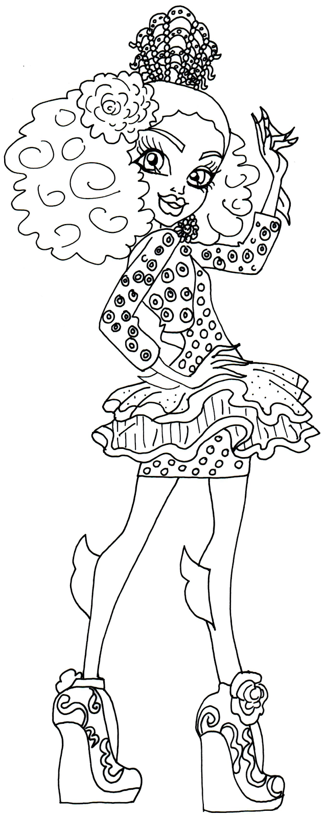 Free Printable Monster High Coloring Pages Lagoona Blue Monster
