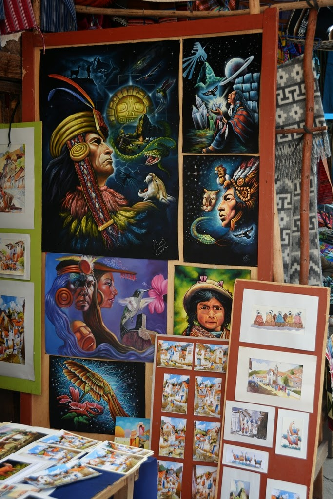 Pisac Market paintings