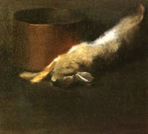 "Georgia O'Keeffe, ""Dead Rabbit with Copper Pot,"" 1908"