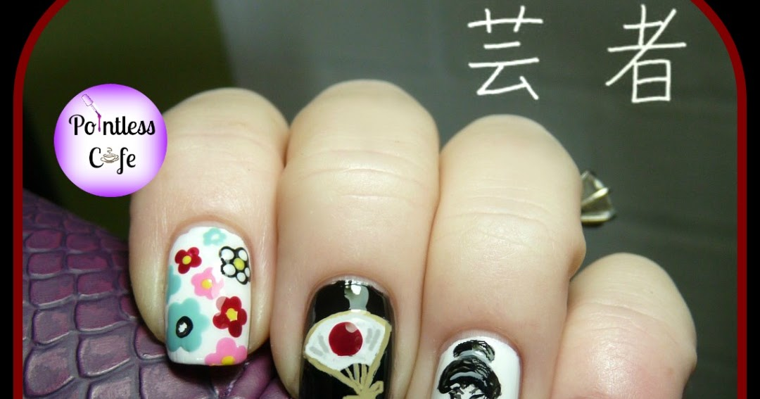 December Nail Art Theme Week: Geisha Nails | Pointless Cafe