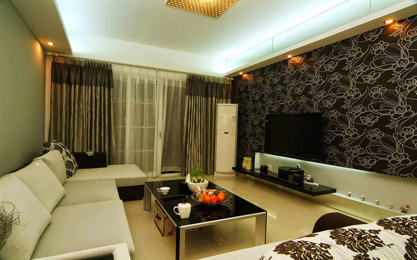 Interior-Modern-guest-room-Minimalist-Luxury-Sofa-White