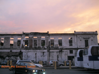 Intramuros - ruined side of Aduana