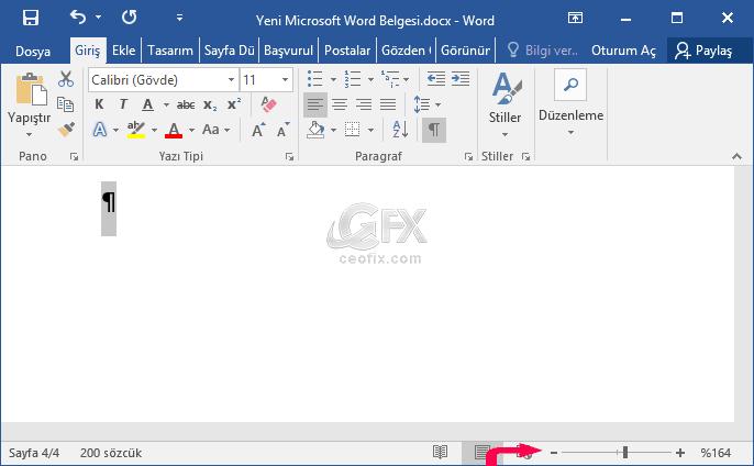 Microsoft Word Belgesinin Sonundaki Boş Sayfaları Silin - www.ceofix.com