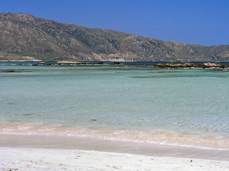 Photo de la plage à Elafonisi sur l'île de Crète en Grèce