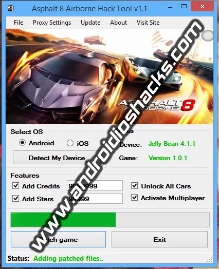 Asphalt 8 Windows 8 Hack Tool