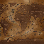 world map inverted