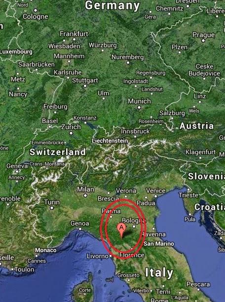 Magnitude 4.3 Earthquake of Cutigliano, Italy 2014-09-07