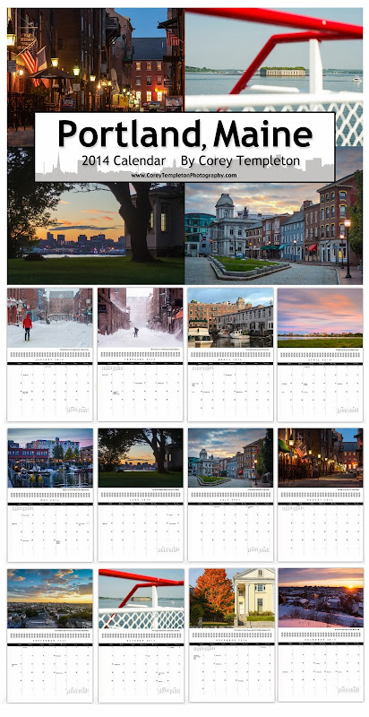 2014 Portland, Maine Photo Calendar by Corey Templeton