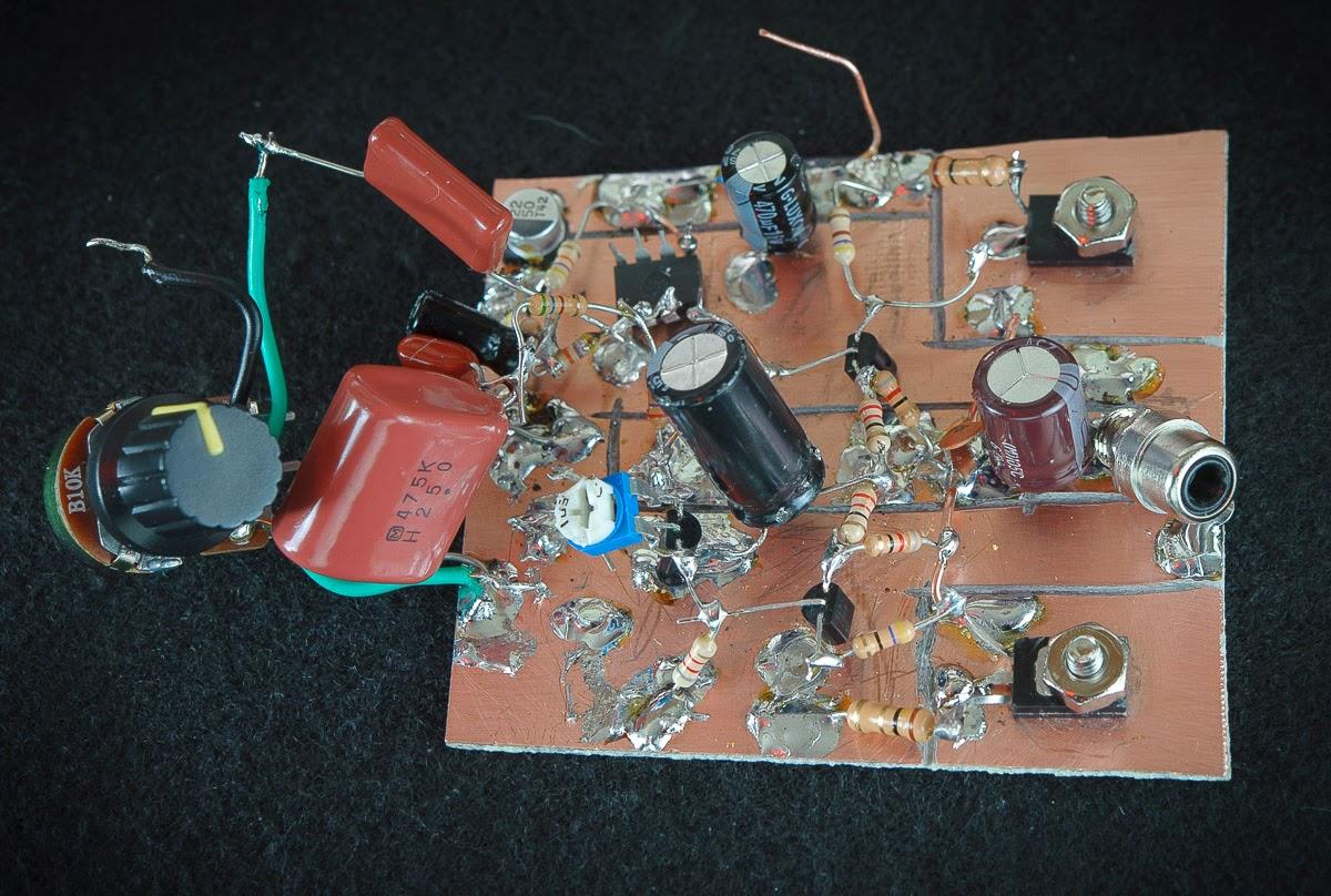 Figure 3 breadboard shown in audio test mode