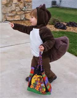 diy squirrel costume from sweatsuit