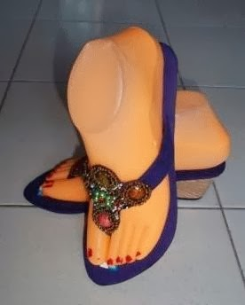 Sandal Cantik Wedges warna biru