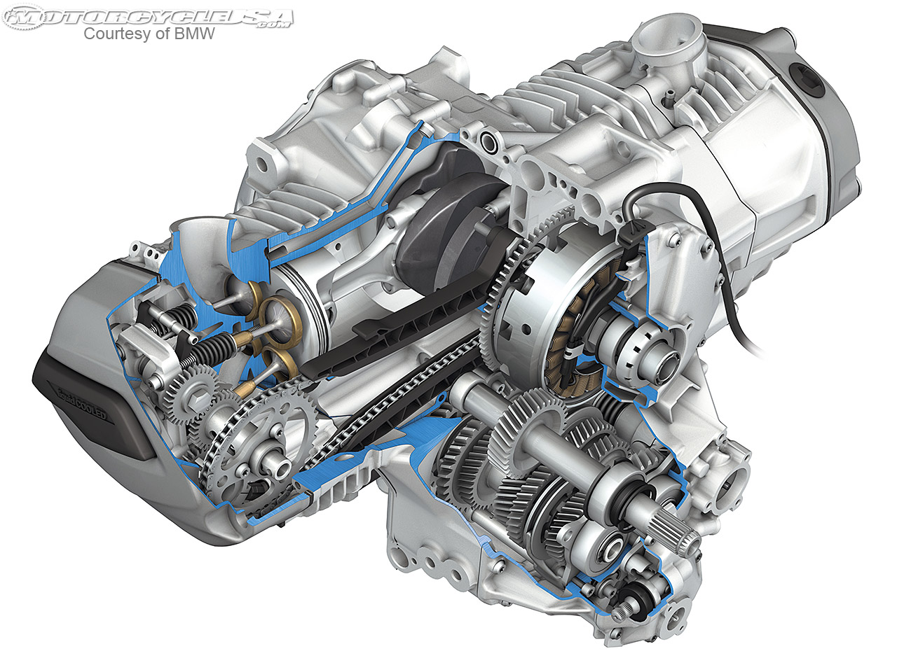 Bmw R1200gslcと共に 水平対向エンジン
