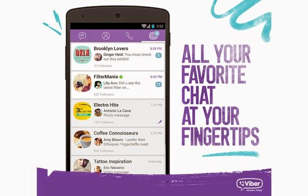 فايبر تطلق خدمة Public Chats