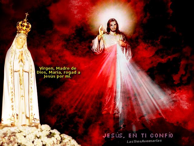 madre de dios con su hijo divino