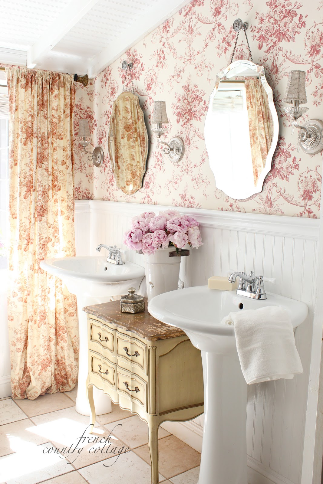 June 2013 french country cottage for French bathroom decor