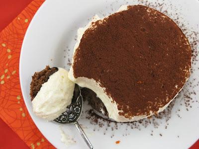 Orange Cointreau Brownie Tiramisu Valentines Day dessert