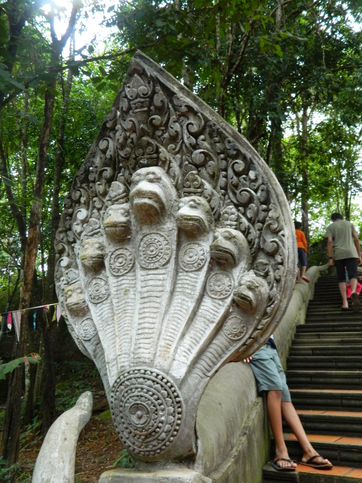 Naga - the mighty snake depicted almost everywhere in the place of handails in Cambodia