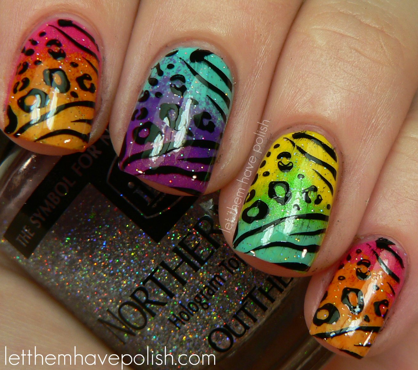 Animal Nail Designs: Let Them Have Polish!: 31 Day Challenge! Day 13- Animal