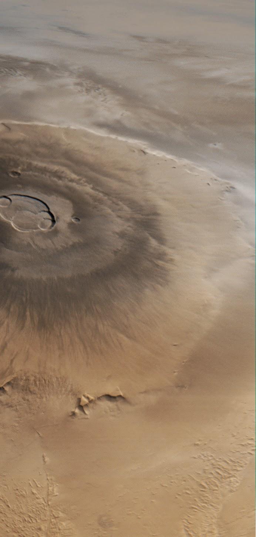 Monte Olimpo, en Marte