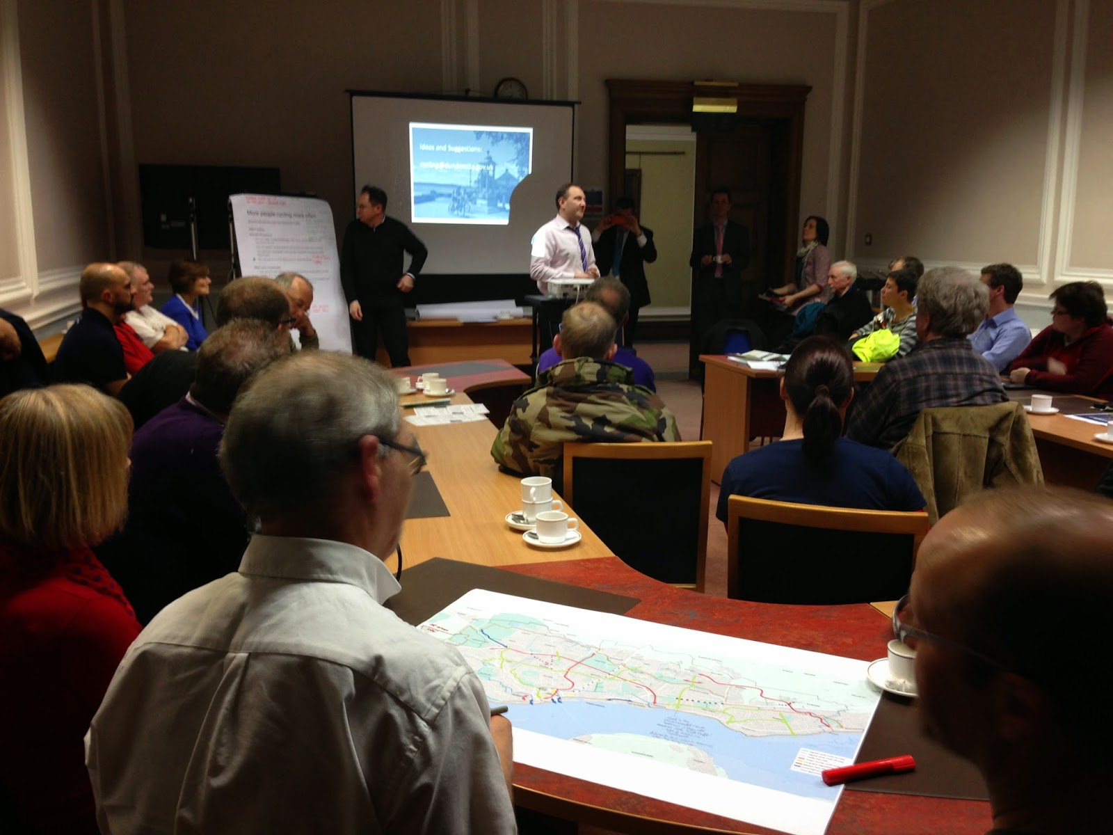 Cycling Engagement Event at Dundee City Council 09.03.2015