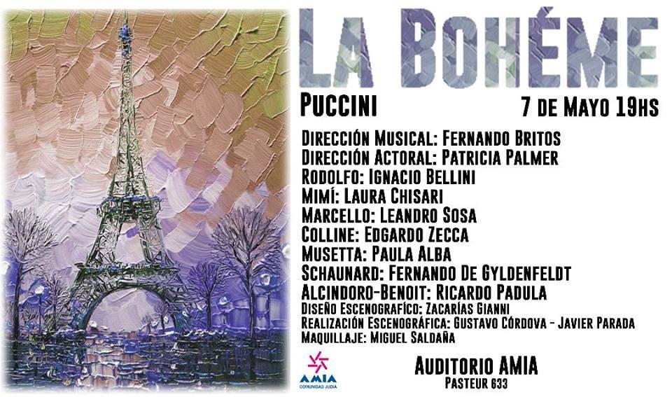 Mas opera- La Boheme  en Auditorio Amia