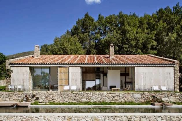 Contemporary Stone House Design In Countryside Of Extremadura Spain