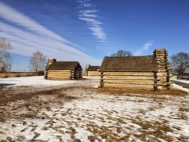 Chuck and Lori's Travel Blog - Troop Huts at Valley Forge
