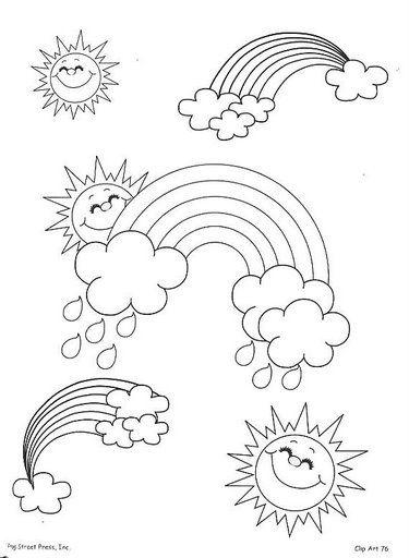 Imprimir y colorear: El sol y la Luna | Colorear y Pintar Dibujos