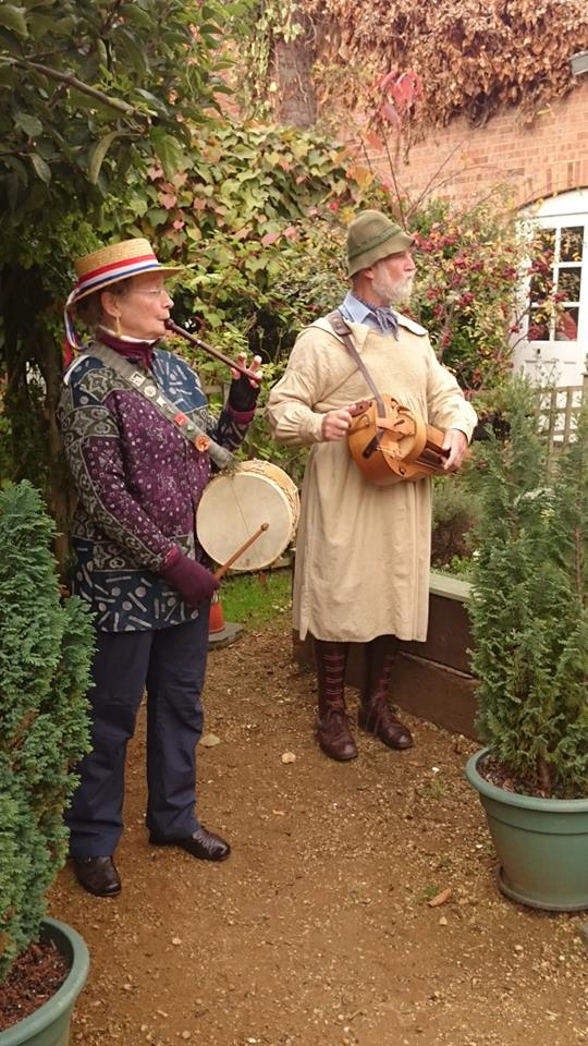 perfoming on Apple Day at Gloucester Folk Museum