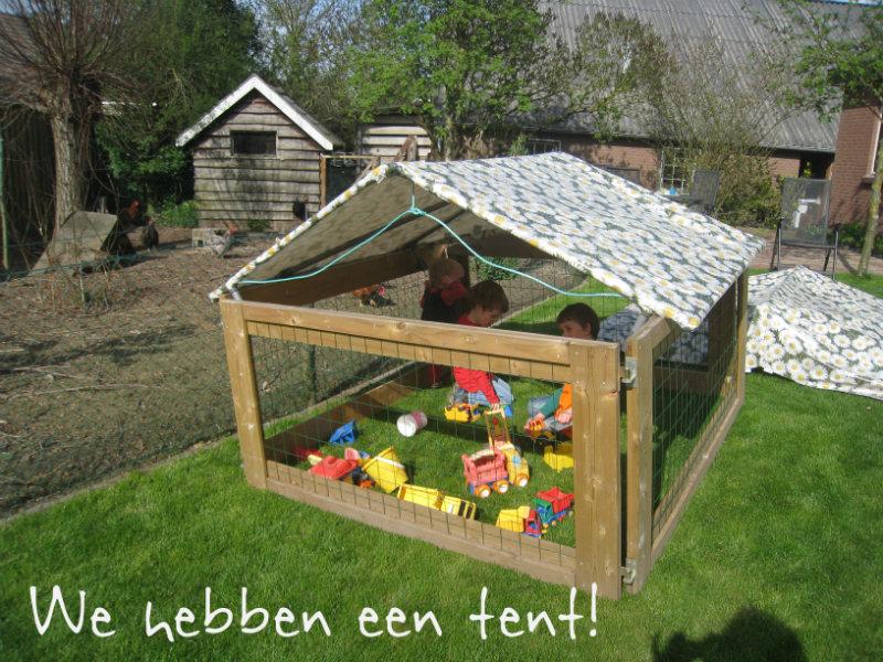 We hebben een tent!