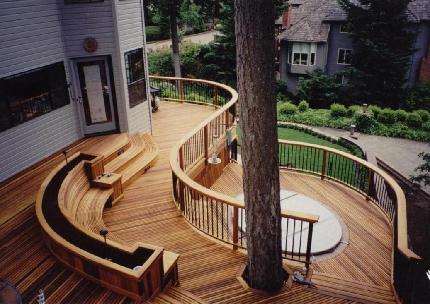 Home design interior exterior decorating remodelling deck for Multi level deck design