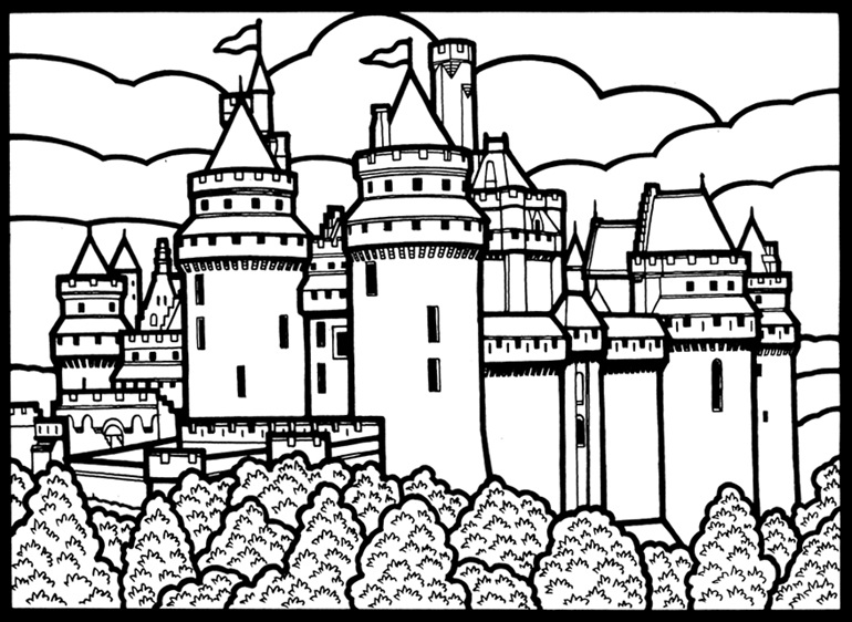 castles and coloring pages - photo#25