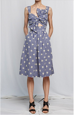 Japanese Woven Gingham Knot Dress