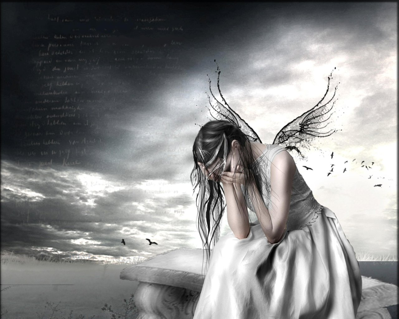 crying angel wallpaper gothic - photo #1