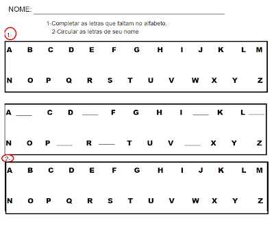 Exercicios Alfabetização - Atividades para Alfabetização