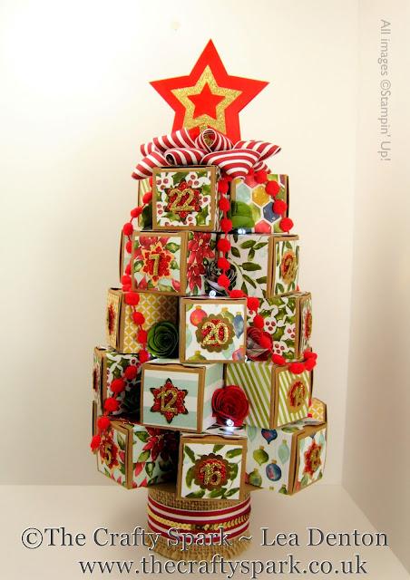 stampin up christmas tree advent calendar