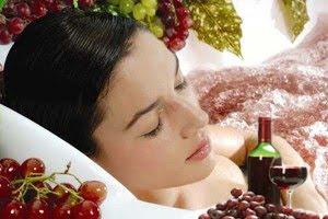 tratamento com vinho,estetica com vinho,terapia do vinho