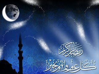 Ramadan Moon and star lights Wallpaper