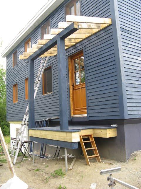 Notre maison galerie arri re et patio for Galerie et patio